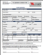 Credit Application for TRL Rents